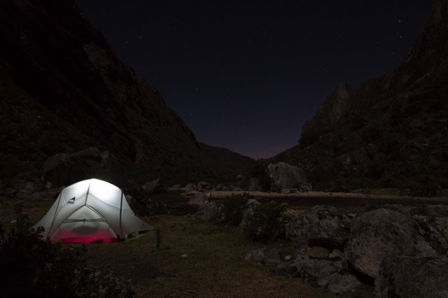 Camp spot 1 by night